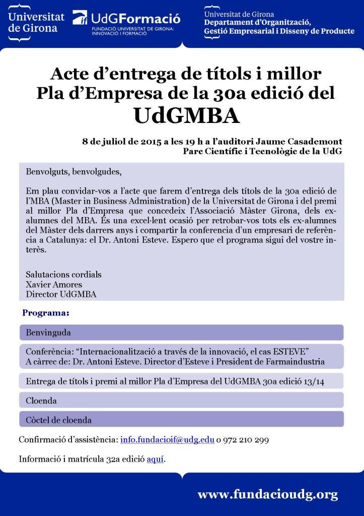 """Conferència: """"Internacionalització a través de la innovació, el cas ESTEVE"""""""
